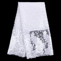 Wholesale New Designs African French Lace Fabric Nigeria French Net Lace in white African swiss voile lace tulle lace fabric HR18