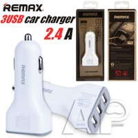 apple ipad adaptors - REMAX Full A USB Fast Car Chargers Adaptor For IPhone Plus Charger Samsung Galaxy IPad Tablet IPod With Retail Package