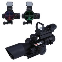 Wholesale 1 x x Tactical Riflescope Holographic Sight Red Dot Scope Optics Laser Rifle Scope Mira Telescopica with Rail Mount