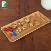 Wholesale Natural Bamboo Storage Trays Eco Friendly Kitchen Tableware Style Snack Fruit Plates Cake Tea Trays Waterproof Storage Dishes