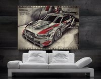 art car parts - Audi race car A5 dtm Poster print wall art parts giant huge Poster print wall art NO572