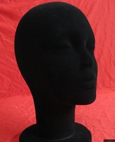 Wholesale Black Foam Velvet Mannequin Head Holder Base Display Wig Hat Glasses Brand New