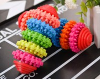 Wholesale Colorful Rubber Pet Dog Puppy Dental Teething Healthy Teeth Gums Chew Toys Tool JIA602 ZO030C