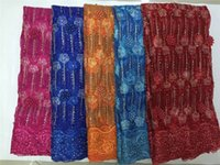 african lace fabric suppliers - Chinese Fabric Supplier African French Lace Fabric High Quality Nigerian Lace Fabrics With Beads yards DDP156