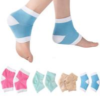 Wholesale 4 Colors Gel Heel Socks Moisturing Spa Gel Socks feet care Cracked Foot Dry Hard Skin Protector