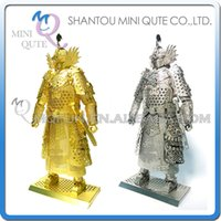 ancient chinese heroes - DHL Piece Fun D Chinese Ancient War golden general leader super hero robot assemble Metal Puzzle adult models educational toy