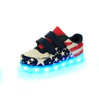 air walker boots - Children Shoes first walker LED Pu Glitters tenis Girls Boys boots For Little baby Kids sneaker Luminous Glowing With Light