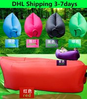 deck chair - DHL days Lamzac Outdoors Fast Inflatable Travel Sleeping Bag Camping Casual Lazy Air Sleep Bag Sofa Sleep Bed Deck Chair Easy Carry