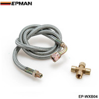 Wholesale EPMAN Universal Braided Stainless Steel quot T25 T28 Turbo Oil Inlet Feed Line Fitting For Honda EP WXB04