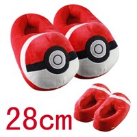 Wholesale Poke mon Winter Indoor Footwear House Shoes Pikachu Pocket ball Candy Colors Luxury Women s Fluff Flip Flop Slipper