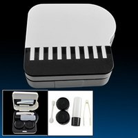 Wholesale Piano New Contact Lenses Case Box Holder Storage Set Glasses Lens Container Mirror Lens Companion Solution Cleaning Sticker Kit Cleaner