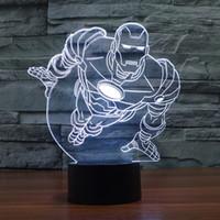 balls iron - 2016 New Hot Iron Man D Optical Lamp Night Light Decoration Lamp Gift DC V USB Charging