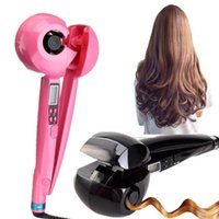 automatic ironing machine - LED Display Hair Curler Roller Iron Wave Styler Tool Curl Machine Steamer Magic Ceramic Curling Iron Automatic Hair Curler