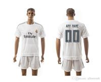 Wholesale Real Madrid RM soccer jersey football uniform home away men kits man jerseys uniforms men ronaldo james bale benzema kroos modric sets