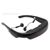 Wholesale 72 Inch Widescreen Virtual Digital Portable Video Glasses Personal Theater FPV Goggles With D Stereo Sound For TV BOX PSP