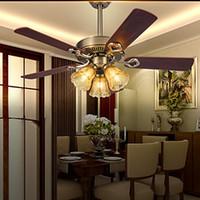 Wholesale Retro Bar Iron Ceiling Fans Lamp Light For Dinning Room cm