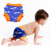 Wholesale Leakproof Swimming Diapers High Waist Reusable Swim Diapers Elastic Well Baby Swim Trunks For M T Children Boys And Girls