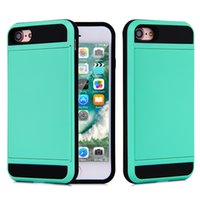 Wholesale for Apple iPhone plus S Plus Cell Phone Case with Slid Card Holder Mobile Back Cover Shell Protector Shockproof