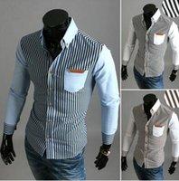 acrylic flannel shirts - Men s striped long sleeved shirt tide models classic mens designer shirts fashion flannel shirts luxury men s shirts clothing