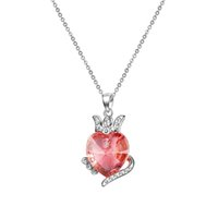 fashion jewelry usa - SWAROVSKI Crystal Love Heart Pendant Short Clavicle Necklaces for Women Girlfriend Wedding Fashion Jewelry Shipping from USA Can Retail