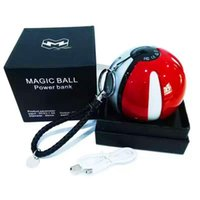 ar ball - Poke go ball power bank mAh for AR game pokeball powerbank With LED Light Portable Charge Figure Toys For iPhone Samsung