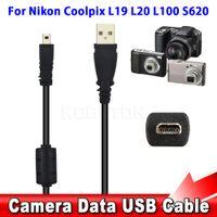 Wholesale Standard USB Camera Data USB Cable For Nikon Coolpix L19 L20 L100 S620 UC E6 Transfer Cable for Nikon Camera