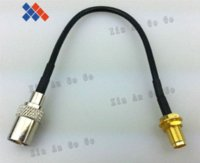 Wholesale 5PCS SMA Female JACK to TV male plug pigtail cable antenna cable adapter assembly cm cable