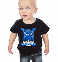 Wholesale 20pcs styles Children tops Short sleeve T shirts Poke Pattern Boys girls Pikachu Jeni turtle Charmander Valor Team Mystic Pokeball Go
