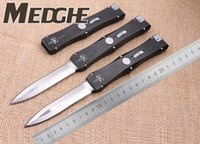 action stainless - Medge Microtech Nemesis Sword D2 Marked Rawai Goddess Lite Double Action Spear Point EDC Pocket knife Xmas gift for men collection knives