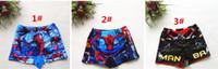 Cheap 2016 Newly Boys Swim Trunks Spiderman Cartoon Swimsuits Boys Summer Beachwear Kids Cartoon Swimwear Via DHL