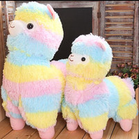 Wholesale 35cm Rainbow Alpaca Plush Toy Vicugna Pacos Japanese Soft Plush Alpacasso Sheep Llama Stuffed Toy Gifts for kids and Girls