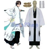 aizen cosplay - Anime Bleach th Division Captain Aizen Sousuke Cosplay Kimono Uniform Suit Men s Halloween Costumes Custom Size