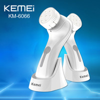 Wholesale Kemei KM Skin Beauty Brush Massager Electric Wash Face Care Machine Facial Pore Cleaner Body Cleaning Waterproof IPX7