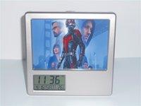 ants photos - New Ant Man Creative Digital Alarm Clock Multi function Desk Clock Calendar Pen Holder Photo Frame Alarm Clock