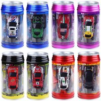Wholesale Colors Mini Radio Racing Cola Car Vehicle Toy Super Light High Speed Coke Remote Control RC Car Toys Gifts for Adults Kids