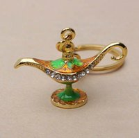 Wholesale Aladdin s lamp Key Chain Accessories with good quality OPP Package Best Gift Travel gift present Souvenir