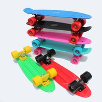 Wholesale Teenagers amp Children s street skate board four wheel banana peny style Cruiser pnny board Skateboards four wheel