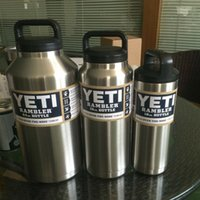 Wholesale Yeti Rambler Cup oz oz oz Bottle Outdoor Coolers Stainless Steel Insulation Cup Cars Beer Mug Large Capacity Mug Tumblerful
