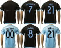 andrea pirlo - Soccer New York City Jerseys Thai Andrea Pirlo David Villa Frank Lampard Football Shirt MIX NYCFC Team Color Black Blue