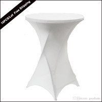 bar table covers - 10PC New Dry Bar Cocktail Table Cover High Quality Polyester Spandex Stretch Highboy Table Cloth for Cocktail Table Covering of wedding