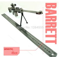 Wholesale DIY Toy gun Alloy Barrett M82A1 sniper rifle CF sniper rifle Metal model gun GUN001