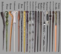 Wholesale Harry Potter Magic Wands Dumbledore Magic Magical Wand harry potter wizard wands Cosplay Wands With box Non luminous Styles
