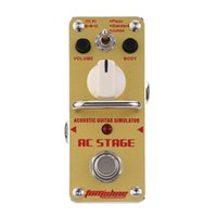 aas single - New Arrival AROMA AAS AC Stage Simulator Mini Single Electric Guitar Effect Pedal with True Bypass Guitarra Effect Pedal