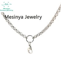 Wholesale 10pcs L stainless steel lobster claw rolo mm width chain necklace for floating charm glass locket essential oil diffuser locket