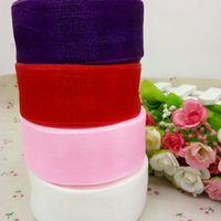 Wholesale 4 colors mm width organza ribbon wedding festive decorate weaving DIY packing belts reel yards R003