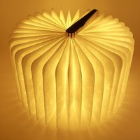 Wholesale New Wireless LED Folding Book Lamp Reading Lamp USB Rechargeable Foldable and Portable Book Light Creative Christmas gifts yellow light