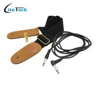 audio accessory kit - Stringed Instrument Guitar Ukulele Accessories Kit Adjustable Strap Amp m Cable Audio Jack Converter