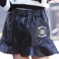 Wholesale 2017 New Arrival Girls Shorts Baby Pants Children Shorts Girl Dress Black Shorts Autumn PU Leather Shorts Child Clothes Kids Clothing MC0375