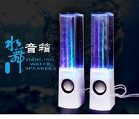 Wholesale Hot x Colorful Dancing Water Speakers LED Music Fountain Light for Notebook PC Laptop MP3 Phone