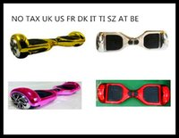 Wholesale NO TAX UK FR INCH Hover Board Rainbow SAMSUNG BATTERY Two Wheels Bicycle Self Balancing mah Scooter Self Balance Scooters